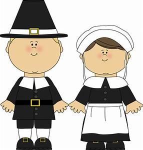 Pilgrim Boy and Girl Clip Art - Pilgrim Boy and Girl Image