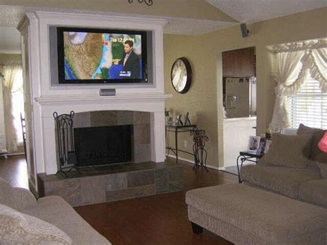 hanging a tv above fireplace wall mount plasma lcd install tv support how high hang