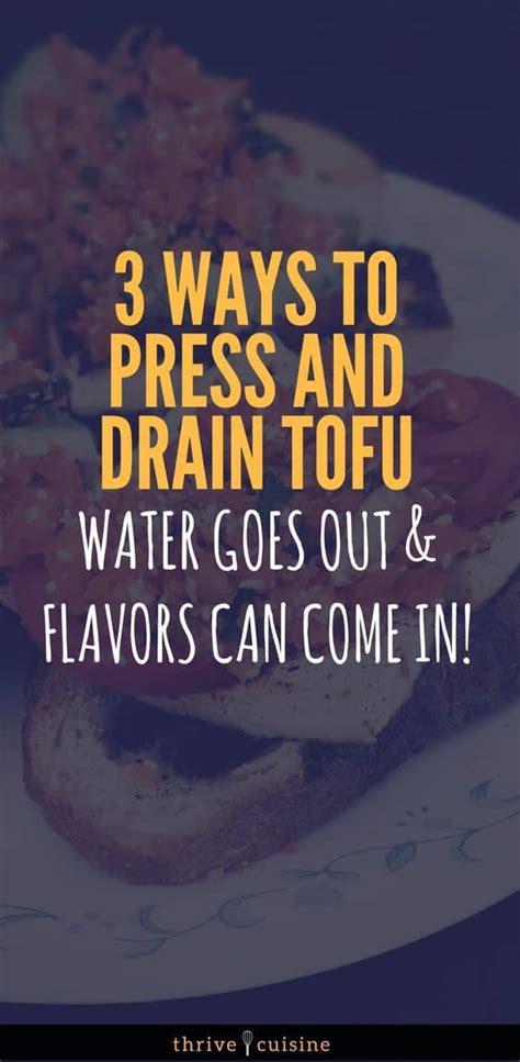 how to press tofu how to press tofu drain water 3 easy methods with photos