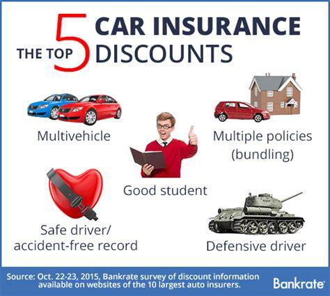 offers   car insurance discounts bankratecom