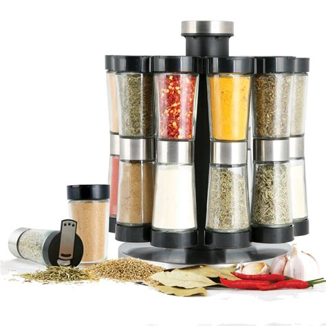 Spice Rack With Jars by Kitchen Spice Rack 20 Jar Rotating Revolving Spices