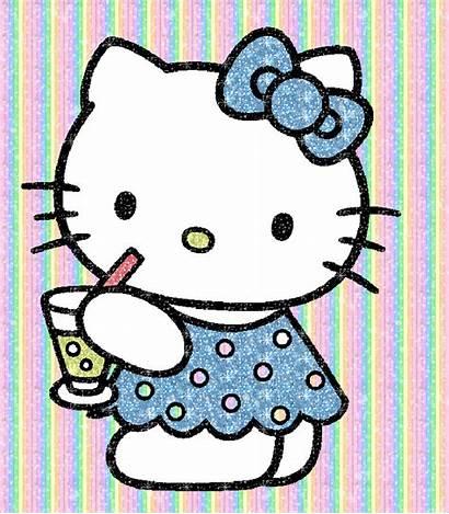Kitty Hello Gifs Glitter Animated Clipart Graphics