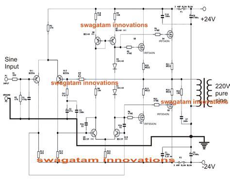simple sine wave inverter circuit 500 watt sine circuit diagram centre