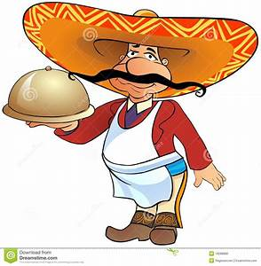 Mexican Waiter With A Tray Stock Photo - Image: 18288880