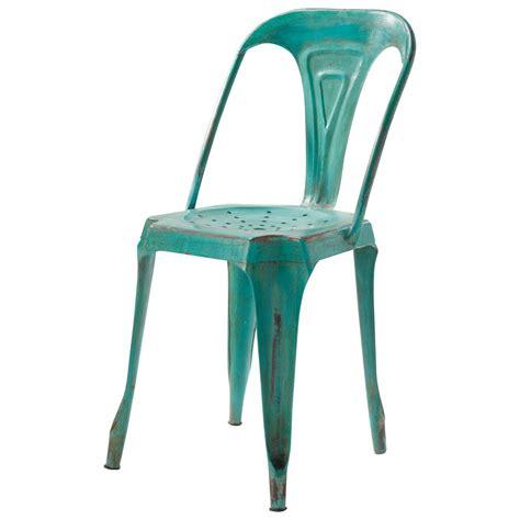 chaises maisons du monde chaise indus en métal verte multipl 39 s maisons du monde