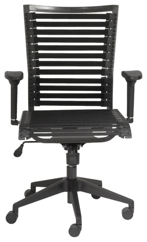 bungie pro flat high back office chair black black