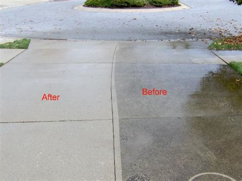 how to power wash concrete driveways