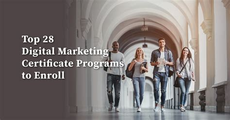 Best Digital Marketing Certificate by The Top 28 Digital Marketing Certificate Programs To Enroll