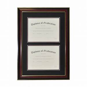 University double document diploma frame gradshop for Dual document frame
