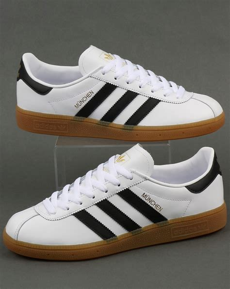 Adidas Munchen Trainers White/Black,leather,originals ...