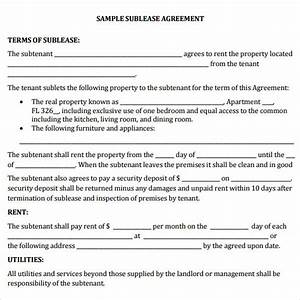 commercial sublease agreement template word templates With vehicle sublease agreement template