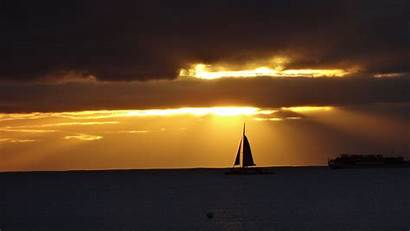 4k Sunset Ultra Wallpapers Sailing Wide Boat