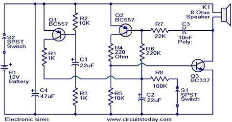 Electronic Siren Circuit Circuits