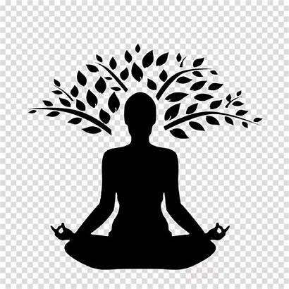 Meditation Yoga Clipart Woman Silhouette Transparent Clip