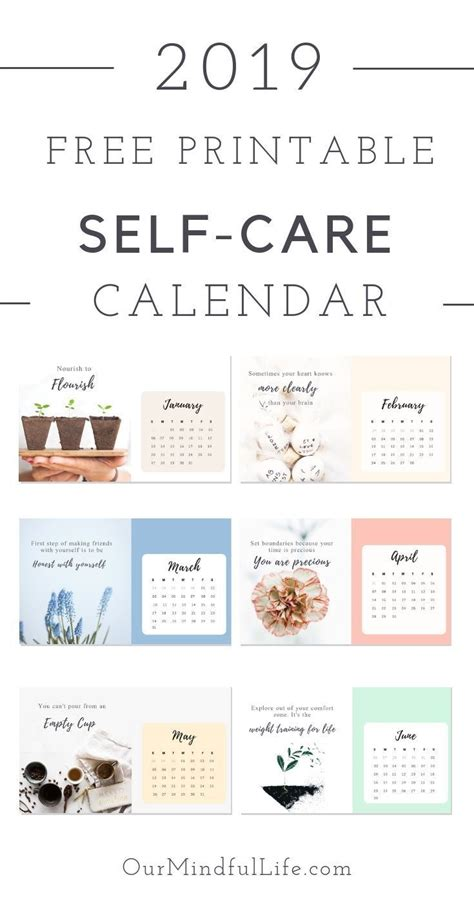 printable  care reminder calendar