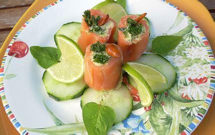 recette assiette de saumon farci truite  avocat