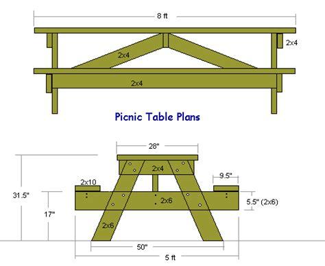 free picnic table plans handymanwire picnic table plans