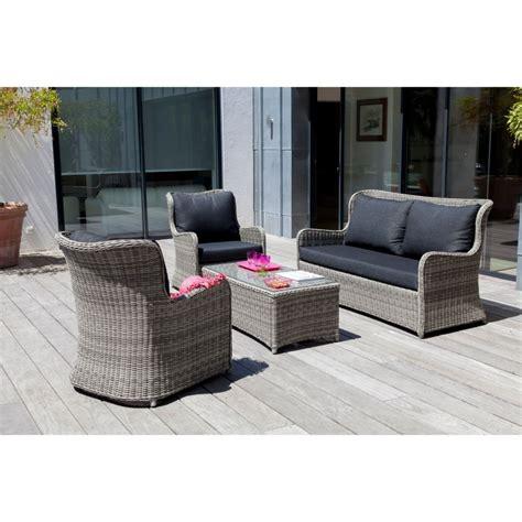 canapé 2 fauteuils salon de jardin bas denver gris 2 fauteuils canapé