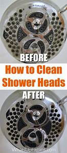 How to clean shower heads the easy eco friendly way for How to clean bathroom with vinegar