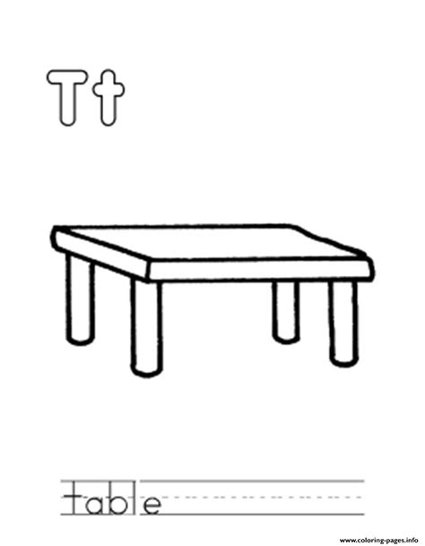table alphabet  coloring pages printable