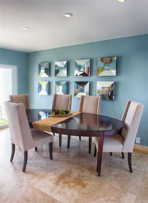 Ideas For Dining Room by Creatively Arranged Decorative Mirrors For Dining Room