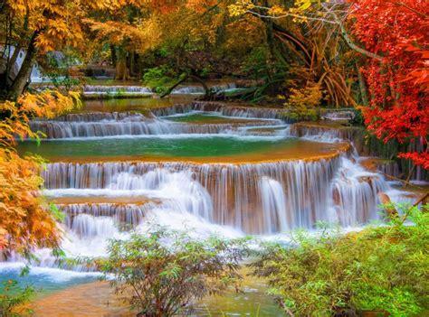 Waterfall River Landscape Nature Waterfalls Autumn