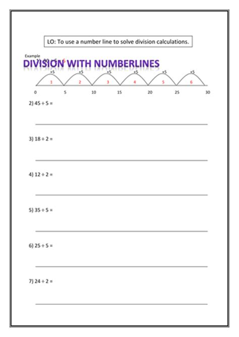 division worksheets ks1 tes division using numberlines by r4chsm1th teaching resources tes