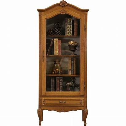 Cabinet Bookcase Display French Oak China Country