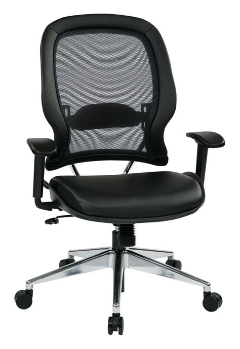 professional air grid 174 back chair with bonded leather seat