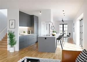 Graue Küche Welche Wandfarbe : 1001 ideen f r wandgestaltung k che zum entlehnen ~ Markanthonyermac.com Haus und Dekorationen