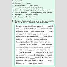 Grade 6 Grammar Lesson 6 Articles And Nouns (5)  Teaching English  English Grammar Worksheets