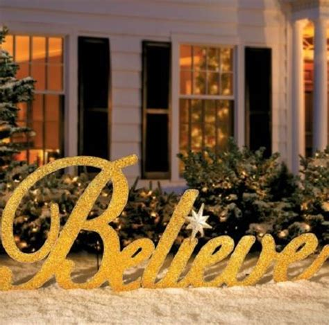 sale 80 quot gold inspirational believe christmas yard art