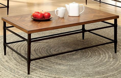 With its sturdy style, the podia table will make a comfortable base of your living room. Herrick Light Oak Coffee Table from Furniture of America (CM4221C)   Coleman Furniture