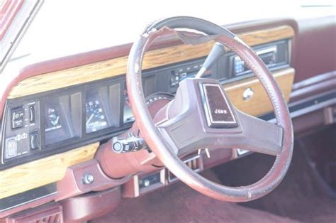 jeep burgundy interior purchase used 1987 jeep grand wagoneer 5 9l v8 4wd 4x4
