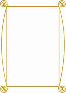 Clipart - Golden spiral frame