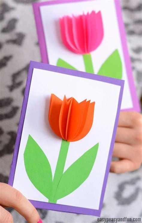 paper tulip card simple mothers day card idea art