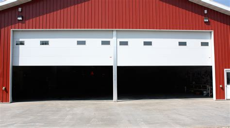 Overhead Swing by Swing Up Center Post Commercial Garage Door 187 Midland