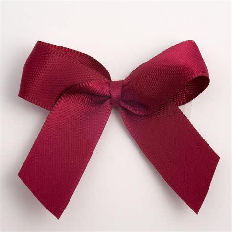 ribbon bow burgundy self adhesive satin ribbon satin bows favour this