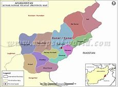 Kunar Map, Map of Kunar Province Velayat, Afghanistan