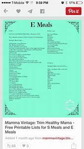 e food list thm food and food lists