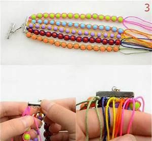 Comment Faire Un Bracelet En Perle : comment faire un bracelet de perles multicolores guide astuces ~ Melissatoandfro.com Idées de Décoration