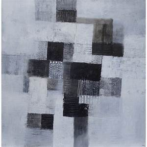 Tableau Photo Noir Et Blanc : tableau abstrait blanc noir 100x100 suarsa ~ Melissatoandfro.com Idées de Décoration