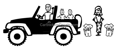 jeep family stickers jeep family 2 sticker decal car stickers decals
