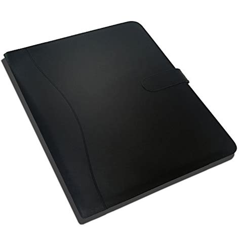 leather resume portfolio travel carrying office holds