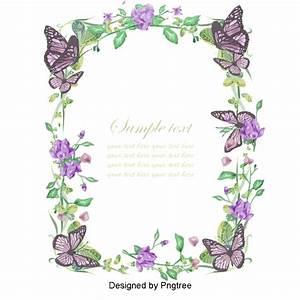 Flowers Border Design Invitation  Retro Invitation  Invitation Design  Wedding Invitations Png