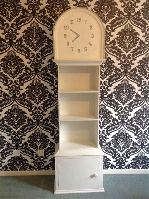 Ikea Grandfather Clock Bookcase by White Grandfather Clock Bookcase Shelves Storage In