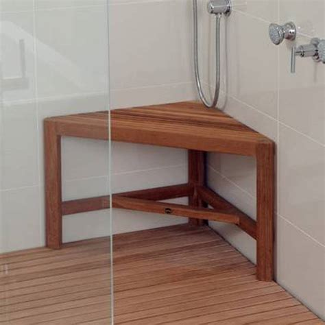 Teak Shower Seat Is Perfect Options — The Homy Design