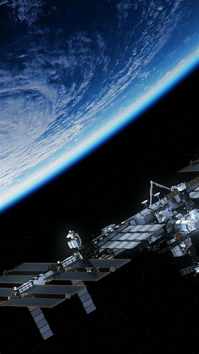 Iss Space Station Portrait International Background Wallpapers