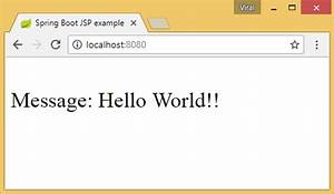 spring boot jsp hello world tutorial with example With spring jsp template