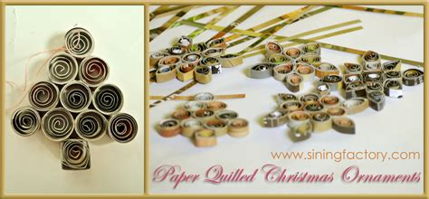 how to make a recycled christmas decor paper quilled